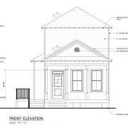 Parkwood Floor Plan, East Towne Village, Rock Hill, SC - Front Elevation Plan